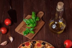 Bundle of six photos of traditional Italian vegetarian pizza Product Image 4
