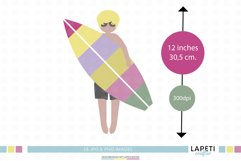 Beach clipart set   Summer vacations at the beach Product Image 2