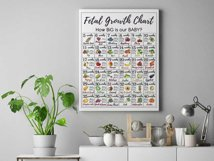 Printable Fetal Growth Chart Poster 2 JPG instant downloads Product Image 2