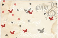 Butterflys Digital Paper, Vintage paper , Butterfly clip art Product Image 6