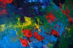 Abstract colorful art background made of oil paints Product Image 1