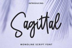 Web Font Sagittal - Monoline Script Font Product Image 1