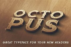 Octopus - Vintage Style Font Product Image 5