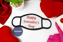 Black Edge Face Mask Mockup Valentine's Day Full wrap PSD Product Image 2