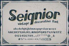 Seignior - vintage font Product Image 1