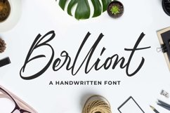Berlliont a Handwitting Font Product Image 1