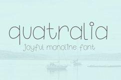 Quatralia font Product Image 1