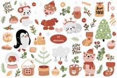 Christmas collection with cute animals Product Image 6