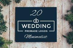 20 Minimalist Wedding Logos Product Image 1