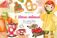 Watercolor Autumn Clipart - PNG Files Product Image 1