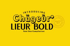 Chageur-LIEUR Bold font Duo Product Image 1