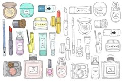 Hand drawn vector cosmetics set. Makeup. Product Image 2