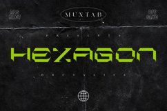 Hexagon | Brutalism Font Style Product Image 1