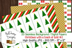 20 seamless Digital Papers - Christmas with Gold - HC007 Product Image 2
