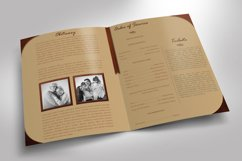 Leather Funeral Program Word Publisher Template 4 PAGES Product Image 4