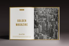 The Golden Magazine Indesign Template Product Image 5