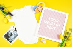 Springtime Baby Onesie Bodysuit Letterboard Mockup Photo Product Image 1