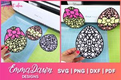 MANDALA EASTER EGGS SVG 3 MANDALA / ZENTANGLE DESIGNS Product Image 2