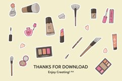 Make Up Printable Stickers Sheet Product Image 3