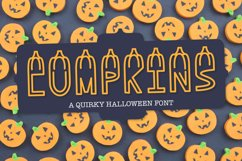 LUMPKINS - A Silly Word Art Halloween Font Product Image 1