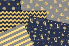 Nautical Pattern Digital Paper Product Image 2