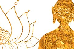 Yoga clipart Gold Buddha Lotus Om symbol Yin Yang Meditation Product Image 3