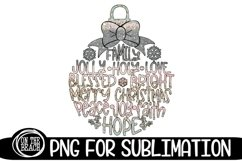Christmas Ornament Sublimation Pastel Glitter Christmas PNG Product Image 1