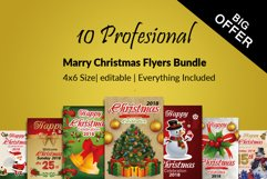10 Christmas Celebration Flyers Bundle Product Image 1