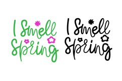 Spring Quotes SVG. I Smell Spring Funny Quotes SVG Product Image 2