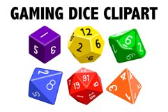 Gaming Dice Clipart Product Image 1