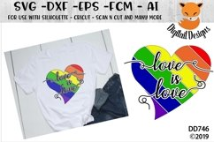 Love Is Love Rainbow Heart LGBT SVG Product Image 1