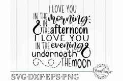 Baby SVG File  I Love You In The Morning Svg Product Image 2