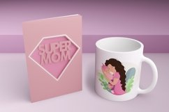 Mom and baby, mom's day clipart, png. eps. Product Image 6