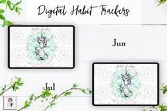 Digital Habit Trackers Y5 Yoga Series for Planner PRINTABLE Product Image 5