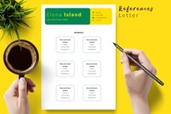 Creative Resume CV Template for Word & Pages Elena Island Product Image 6