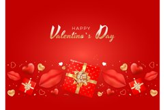 Valentine's Day Background Template Card Design Product Image 12