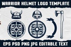 Warrior Viking Helmet Logo Template Product Image 4