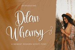 Dilan Whemsy - Modern Script Font Product Image 1