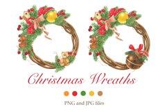 Christmas wreaths clip art #1 Product Image 1
