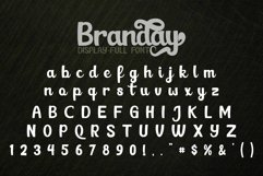 Branday Unique Display Font Product Image 4
