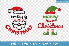 Merry Christmas - Santa and Elf - 2 items, Christmas SVG Product Image 3