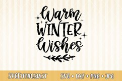 Warm winter wishes SVG cut file Product Image 1