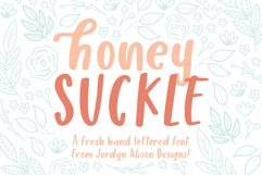 Honey Suckle, A Fresh Hand Lettered Font Product Image 1