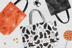 6 Huge Seamless Watercolour Halloween Textures Product Image 4