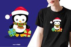 Baby Penguin Giftbox T-Shirt Design | Sublimation T-Shirt Product Image 6
