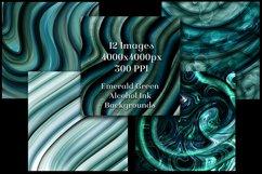 Emerald Green Alcohol Ink Backgrounds - 12 Image Set Product Image 3
