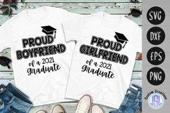 Proud Boyfriend Girlfriend 2021 Graduate   SVG DXF EPS PNG Product Image 1