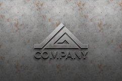 3D metal logo mockup on silver wall. premium mockup Product Image 1