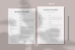 Resume and Cover Letter Template   Minimalist Resume CV Product Image 4