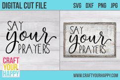 Say Your Prayers - A Christian SVG Product Image 2